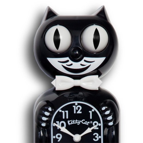 Black kitty cat clock canadian clock company - Kitty cat clock ...