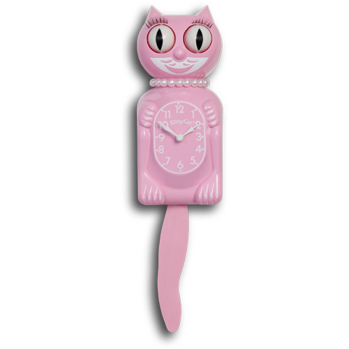 Pink miss kitty cat clock canadian clock company - Kitty cat clock ...