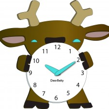 DeerBelly Clock