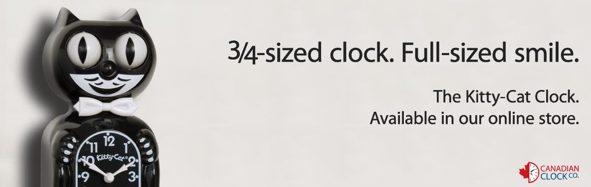 3/4 kit cat clocks
