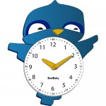 bird clock for kids