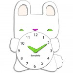 bunny rabbit clocks for children