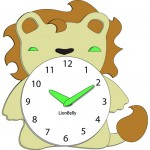 lion clock design for kids