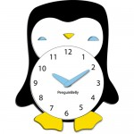 penguin clocks for kids
